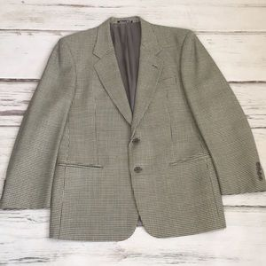 Valentino Blazer Wool Suit Coat Houndstooth Italy